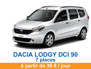 Dacia lodgy autorent caraib