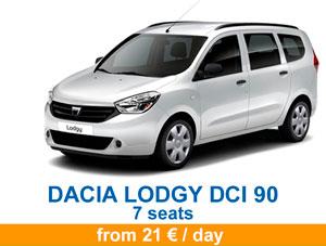 Dacia lodgy en 2020